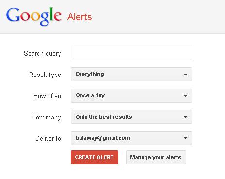 Googl Alerts